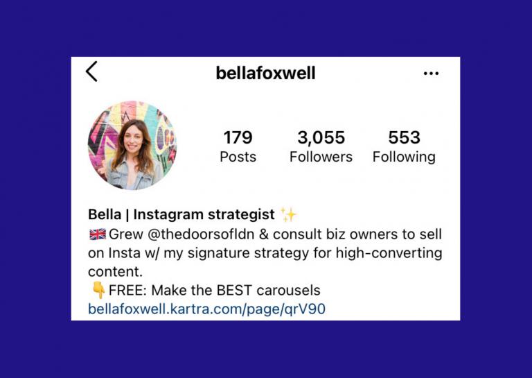 Bella Foxwell on Instagram