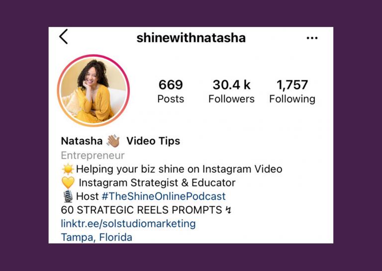 Shine With Natasha on Instagram
